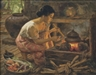 Fernando Amorsolo, GIRL PREPARING A MEAL