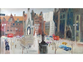 Albert Square, Manchester By Albin Trowski ,1972