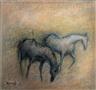 Elvi Maarni, HORSES IN A FIELD