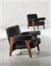Pierre Jeanneret, Le Corbusier, 2 works; Armchairs, model no. LC/PJ-SI-42-A/B, designed for the High Court and Assembly, Chandigarh
