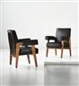 Pierre Jeanneret, Le Corbusier, 2 works; Advocate and Press, armchairs, model no. LC/PJ-SI-41-A, from the High Court, Chandigarh