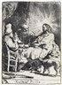 Rembrandt, Christ at Emmaus: The Smaller Plate