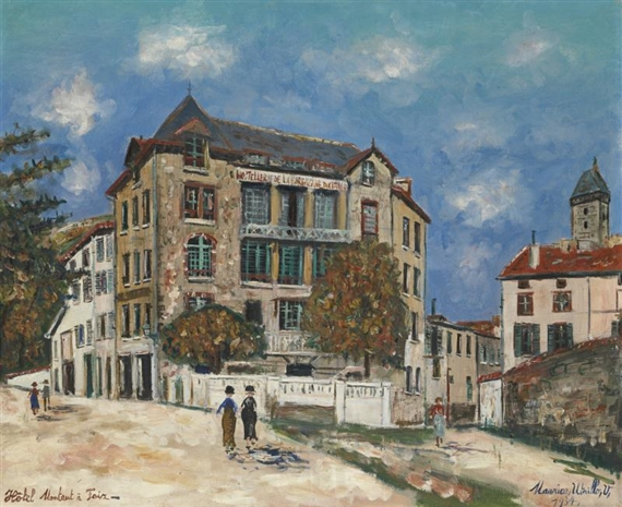 maurice utrillo le pont st michel paris 1904. Black Bedroom Furniture Sets. Home Design Ideas