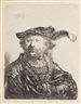 Rembrandt, Self-Portrait in a Velvet Cap with Plume