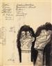 Max Klinger, 2 WORKS: BRAHMS UND DIE MUSE (II) JAPANERIN (MRS. HANZA TANAHASHI) (RECTO); FLÜCHTIGE FIGURENSKIZZE (VERSO)