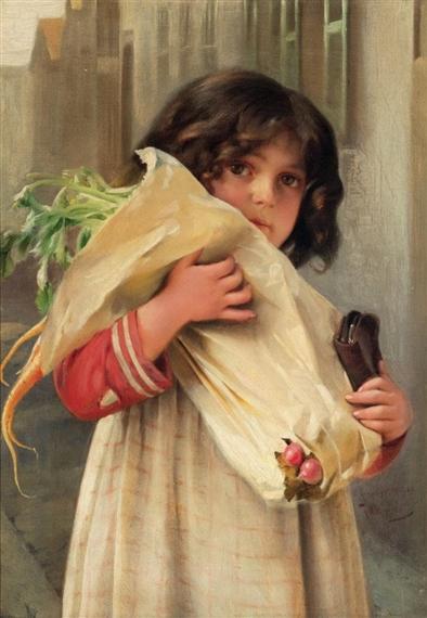 Witkowski Karl | A Bag of Groceries (1902) | MutualArt