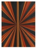 Mark Grotjahn, UNTITLED (RED ORANGE BROWN BLACK BUTTERFLY 560)