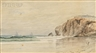George M. Hathaway, Three Maine Views: Seascape, Portland Harbor View, Possibly Pumpkin Knob