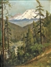 William Keith, Sacramento River Canyon with Mount Shasta in the Distance