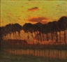 Charles Warren Eaton, Sunset Through a Row of Trees