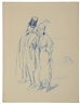 Guy Pène du Bois, Untitled (Woman and Man Strolling)