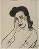 Alice Neel, Portrait of Dark Haired Woman