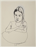 Alice Neel, Untitled (Young Girl Sitting at a Table)
