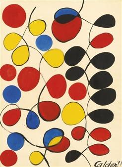 Alexander Calder V 201 Nusiennes 1971 Gouache And