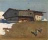 Alfons Walde, Bergfrühling (Bauernhof im Frühling)