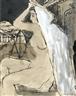 """Paul Delvaux, Study for """"La ville noire"""""""