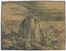 Hendrick Goltzius, Kirche an einer felsigen Küste