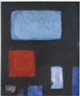 Patrick Heron, BLUES AND DULL VERMILION IN BLACK : JUNE 1960