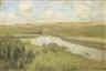 Isaac Levitan, River landscape