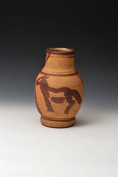William Staitemurray Horse Vase 1930 Mutualart