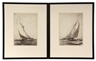 Yngve Edward Soderberg, Two Etchings of Racing Yachts