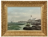 George M. Hathaway, Sailing Ship Passing Portland Head Lighthouse, Maine