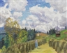 Otto Modersohn, Sommerliche Gailenberglandschaft