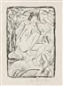 Otto Mueller, Sitzende von Blattwerk umgeben