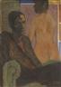 Otto Mueller, Selbstbildnis mit Rückenakt