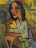 Dorothea Maetzel-Johannsen, Junge Frau mit Katze