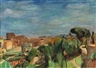 Hans Purrmann, Blick auf das Kolosseum in Rom