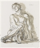 Paul Cadmus, Study for Portrait of a Dancer (Z11)