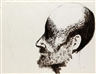 Leonard Baskin, Head of a Man in Profile