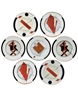 Vladimir Nemukhin, A GROUP OF 7 ;  PORCELAIN PLATES