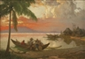 Fernando Amorsolo, Sunset At Manila Bay