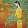 Nguyen Trung, Lady in Yellow in the Garden