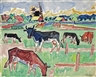 Max Pechstein, Cows in a meadow