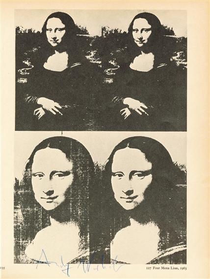 Très bien Warhol Andy   Four Mona Lisa (1966)   MutualArt &TK_67