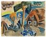 Karl Schmidt-Rottluff, An der Küste von Jershöft - Haus am Meer