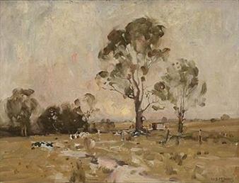 Moonrise By W.B. McInnes ,1916