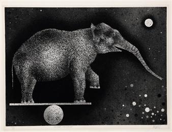 Elephant Equilibriste By Mario Avati ,1969