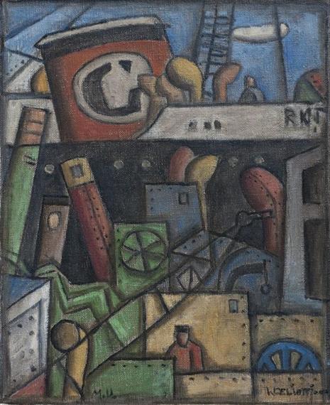 Walter deliotti trabajo en el puerto oil on canvas - Trabajo en el puerto ...