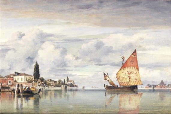 Edward William Cooke, Part of the Island of San Pietro, Castello, Venice