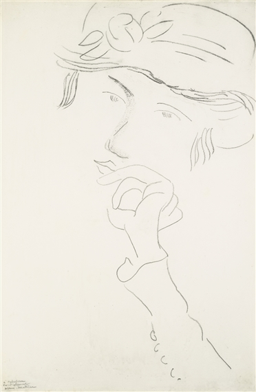 Artwork by Henri Matisse, PORTRAIT DE GRETA PROZOR, Made of pencil on paper
