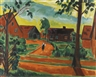 Max Pechstein, KIND AUF DORFSTRASSE (CHILD ON A VILLAGE STREET)