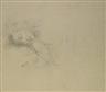 Balthus, ÉTUDE POUR 'JEUNE FILLE ENDORMIE' (PORTRAIT DE JEANETTE)