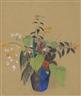 Odilon Redon, Fleurs dans une cruche bleue