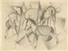 Franz Marc, Drei Pferde mit abstrakten Formen