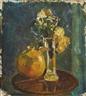 Karl Oscar Isakson, Stilleben med blommor i vas