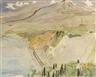 Erich Heckel, Blick auf die Küste und den Strand bei Taormina
